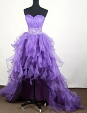 2012 Popular A-line Sweetheart Knee-length High-low Prom Dresses Style WlX426129