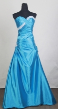 2012 Popular A-line Sweetheart Neck Floor-Length Prom Dresses Style WlX42691