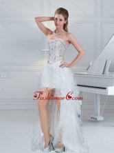 2015 Ball Gown Sweetheart Fashionable Prom Dresses with Ruffles and Beading QDZY152TZBFOR