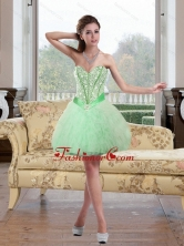 2015 Fashionable Beading and Ruffles Prom Dress in Apple Green QDDTA68003FOR