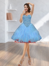 2015 Fashionable Beading and Ruffles Prom Dresses with Sweetheart SJQDDT11003FOR