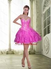 2015 Fashionable Beading and Ruffles Short Prom Dresses in Fuchsia SJQDDT23003-2FOR