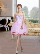 2015 Fashionable Short Sweetheart Prom Dresses with Beading and Ruffles SJQDDT8003FOR