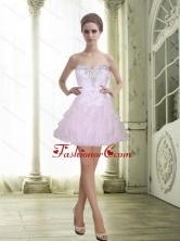 2015 Fashionable Sweetheart Beading and Ruffles White Prom Dresses SJQDDT6003FOR