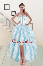 2015 Fashionable Sweetheart Prom Gown with Appliques and Ruffles XFNAO056TZBFOR