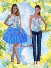 2015 Popular Knee Length Prom Dresses with Beading and Ruffles SJQDDT38004-1FOR
