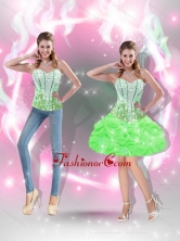 2015 Pretty Mini Length Beaded Prom Dresses in Spring Green SJQDDT40004-3FOR