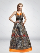 2015 Fashionable Spring A Line Halter Top Camo Prom Dresses CMPD050FOR