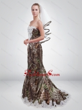 2015 Fashionable Sturning Mermaid Sweetheart Camo Prom Dresses in Multi Color CMPD055FOR