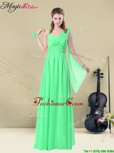 2016 Elegant Straps Floor Length Fashionable Prom Dresses with Ruching and Belt for Summer BMT008-12DFOR
