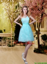 2016 Fashionable A Line Laced Prom Dresses with Appliques in Aqua Blue BMT032AFOR