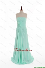 2016 Summer Gorgeous Empire Strapless Prom Dresses with Hand Made Flowers DBEES074FOR