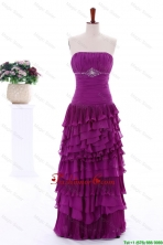 2016 Winter Popular Empire Strapless Beaded Prom Dresses with Ruffled Layers DBEES081FOR