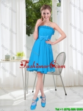 A Line Strapless Prom Dresses with Bowknot in Blue BMT001D-6FOR
