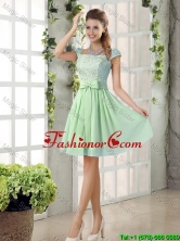 Affordable Square Lace Prom Dresses with Bowknot BMT010E-3FOR