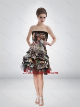 Fashionable 2015 Short Strapless Camo Prom Dresses  CMPD020FOR