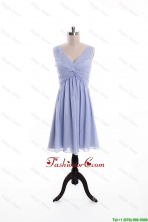 Beautiful Ruching and Beading Lavender Short Prom Dresses DBEES211FOR