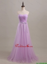 Beautiful Sweetheart Lilac Long Prom Dresses with Sweep Train DBEES293FOR