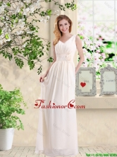 Beautiful V Neck Lace Up Prom Dresses with Hand Made Flowers BMT033EFOR