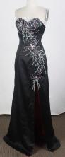 Brand New Empire Sweetheart Floor-length Black Prom Dress LHJ42864