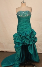 Brand new High-low Strapless Mini-length Beding Prom Dresses Style FA-C-133