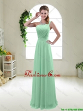Classical Apple Green One Shoulder  Prom Dresses with Zipper up BMT047BFOR