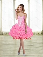 Classical Ball Gown Knee Length Beaded Prom Dress with Pick Ups SJQDDT61003FOR