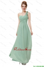 Classical One Shoulder Prom Dresses with Hand Made Flowers DBEE006FOR