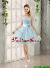Custom Made A Line Strapless Prom Dresses with Ruching BMT014B-6FOR