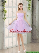 Custom Made A Line Strapless Ruching Prom Dresses with Belt BMT014-4FOR