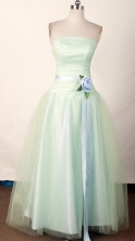 Cute A-line Strapless Floor-length Apple Green Prom Dress LHJ42806