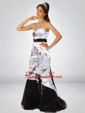 Fashionable Column Camo Prom Dresses with Hand Made Flower and Sashes CMPD067FOR