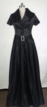 Elegant Empire Floor-length Black Taffeta Prom Dress LHJ42838