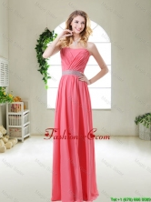 Elegant Strapless Prom Dresses in Watermelon Red BMT055AFOR