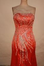 Exquisite Column Strapless Floor-length Beading Prom Dresses Style FA-C-149