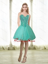 Fashionable 2015 Beading and Appliques Sweetheart Prom Dress in Turquoise QDDTA69003FOR