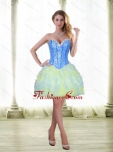 Fashionable 2015 Beading and Ruffles Short Prom Dresses with Sweetheart SJQDDT21003-1FOR