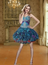 Fashionable Appliques and Pick Ups Short Prom Dresses for 2015 SJQDDT26003FOR