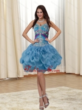 Fashionable Appliques and Rolling Flowers Straps Multi Color 2015 Prom Dresses SJQDDT20003FOR