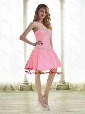 Fashionable Beading Prom Dresses in Baby Pink for 2015 SJQDDT35003FOR