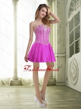 Fashionable Beading and Ruffles Fuchsia Prom Dresses for 2015 SJQDDT34003FOR