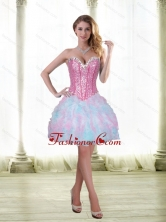 Fashionable Beading and Ruffles Short 2015 Prom Dresses with Sweetheart SJQDDT21003FOR