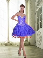 Fashionable Beading and Ruffles Short Lavender 2015 Prom Dresses SJQDDT23003-1FOR