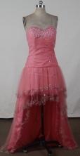 Fashionable Empire Sweetheart High-low Knee-length Waltermelon Prom Dress LHJ42819