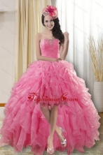 Fashionable High Low Prom Dresses with Ruffles and Beading XFNAO724TZBFOR