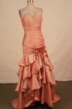 Fashionable Mermaid V-neck Brush Beading Prom Dresses Style FA-C-150