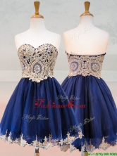 Fashionable Organza Applique with Beading Prom Dress in Royal Blue BMT0186FOR