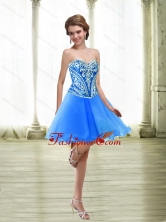 Fashionable Short Embroidery Royal Blue Prom Dresses for 2015 SJQDDT32003FOR