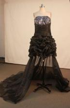 Fashionable Short Strapless Mini-length Brown Beading Prom Dresses Style FA-C-172
