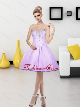 Fashionable Tulle Beading Short Sweetheart 2015 Prom Dresses SJQDDT4003FOR